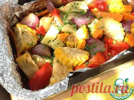 The baked vegetables with Provence herbs - the culinary recipe