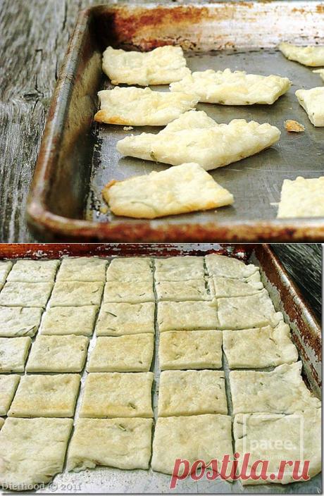 Крекеры с розмарином и чесноком - рецепт с фотографиями - Patee. Рецепты