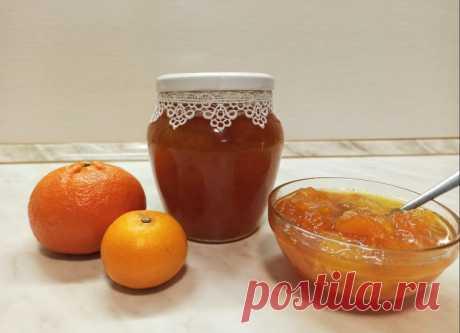 Мандариново-апельсиновое варенье  с легкими нотками имбиря и ванили.