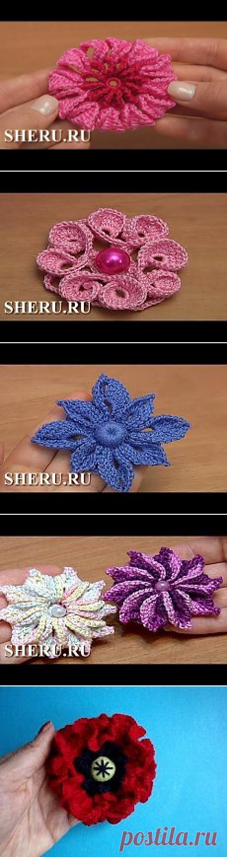 Крючок - Цветы (видео-уроки) | Простые схемы. Экономим время на Постиле