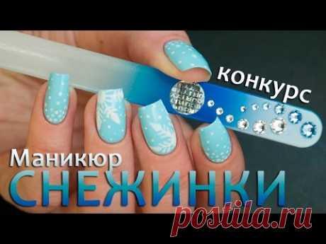 Подборка зимних дизайнов ногтей. Видео-уроки.