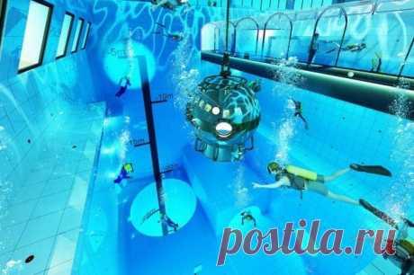 В Польше открылся самый глубокий в мире бассейн для любителей дайвинга | Спорт