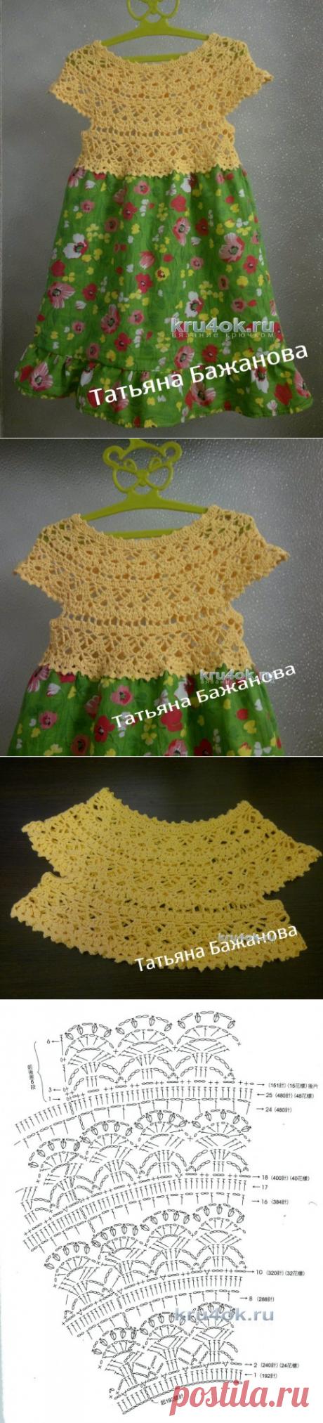 Платье для девочки. Работа Татьяны Бажановой - вязание крючком на kru4ok.ru