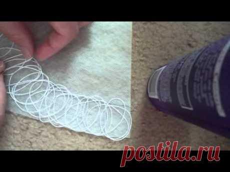 Крейзи Вул. Колье, Мастер-класс,Урок 1 часть 1. Раскладка ниток. Crazy Wool