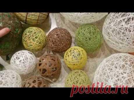 КАК СДЕЛАТЬ ШАРЫ из ниток. DIY .Очень прочные.Своими руками.Сухая намотка. DIY.Balls of thread