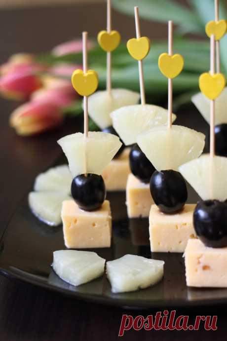 Канапе с ананасом рецепт с фотографиями