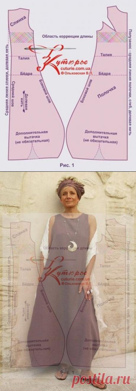 Простая выкройка стильного платья бохо силуэта трапеция и как сшить это платье по выкройке своими руками | Шьем с Верой Ольховской | Яндекс Дзен