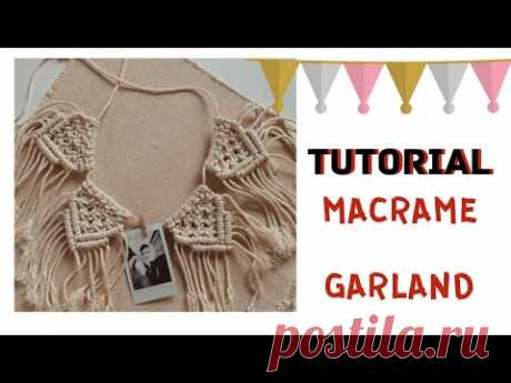 Macrame garland - YouTube