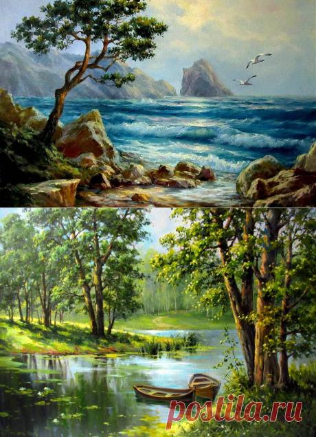 Пейзажи Натальи Токарь