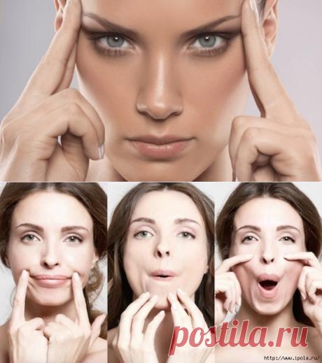 7 упражнений, которые разгладят кожу на лице.