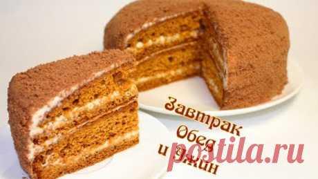 Cake Medovik \/ FAST way \/ HOUSE-KEEPER option \/ the Most tasty recipe!