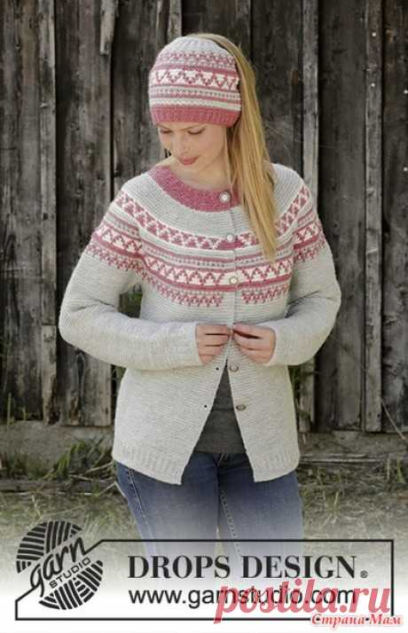 . Кардиган и шапка Hint of Heather спицами - Вязание - Страна Мам