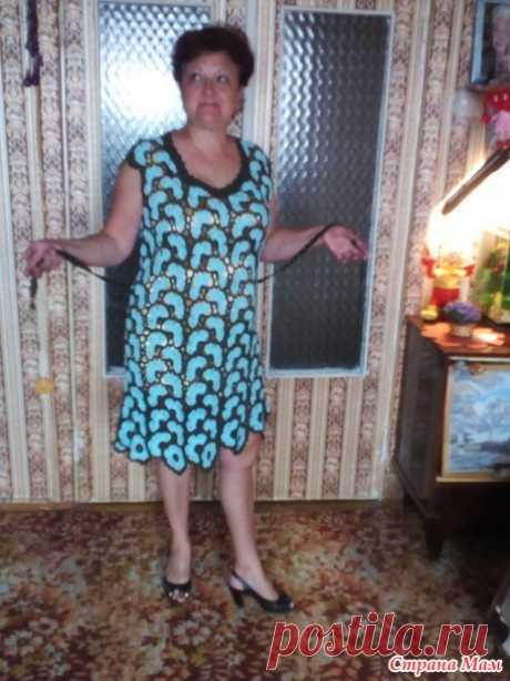 Платье бирюзовое - Вязание - Страна Мам