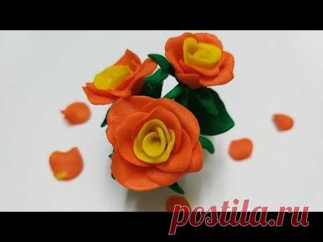 Как слепить Розу 🌹 из мастики или пластилина (Cake/Fondant Topper - Rose). - YouTube