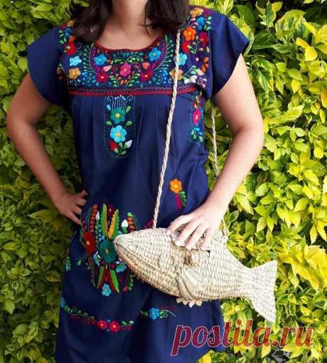 Мексиканский плетеный мешок Рыба плетеный мешок ладони | Etsy