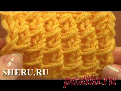 Knitting Stitch Pattern For Beginners Урок 3 Узор чешуйки