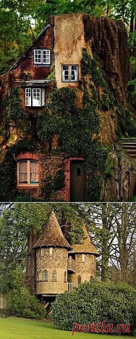 Неужели такие домики на самом деле бывают? вот бы посмотреть или даже пожить в таких ))  enchanting Классс!!!! | Architecture