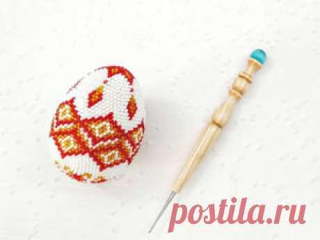 Вяжем крючком пасхальное яйцо из бисера – бесплатный мастер-класс по теме: Вязание крючком ✓Своими руками ✓Пошагово ✓С фото