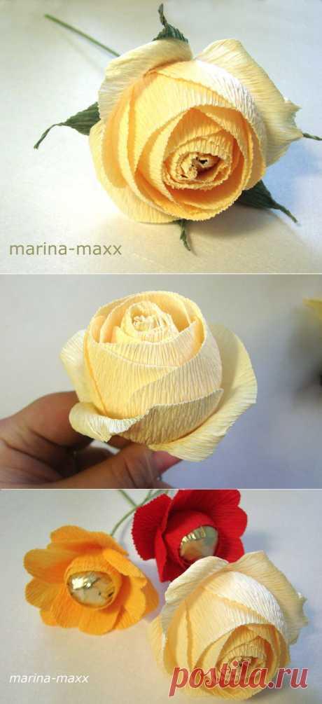МК по английским розам | Конфетный
