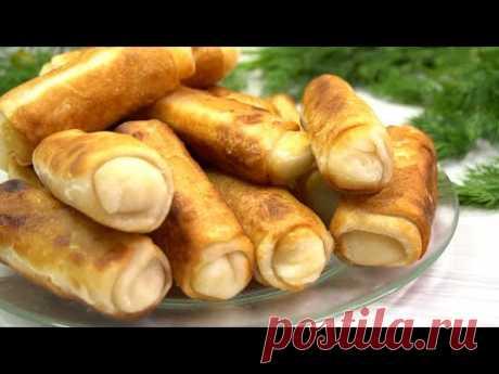 Хоть с картошкой, хоть с капустой! Вкуснятина неимоверная, ХРУСТЯЩИЕ пирожки!