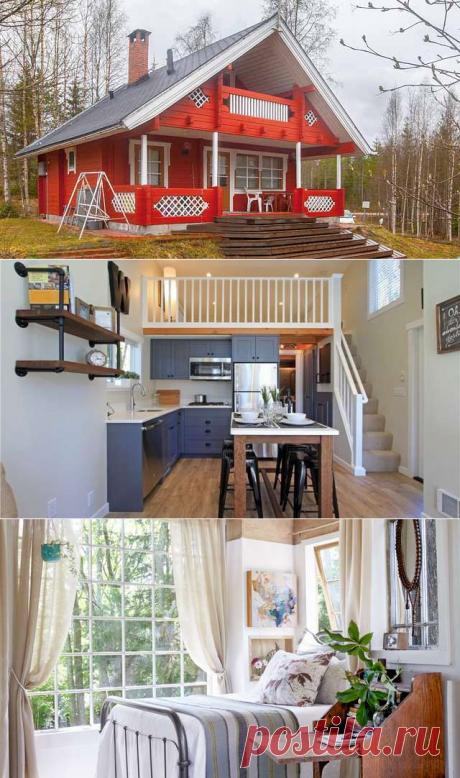Как обустроить жизнь на даче. Дачные домики: 45 фото