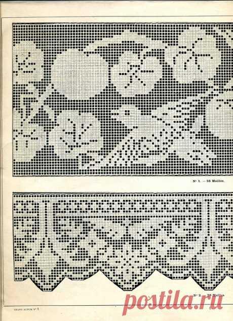 Филейные узоры крючком схемы. Филейные узоры. Книга. 1908 год. |