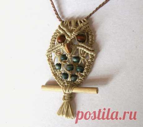 Ecocrafta: Owl necklace