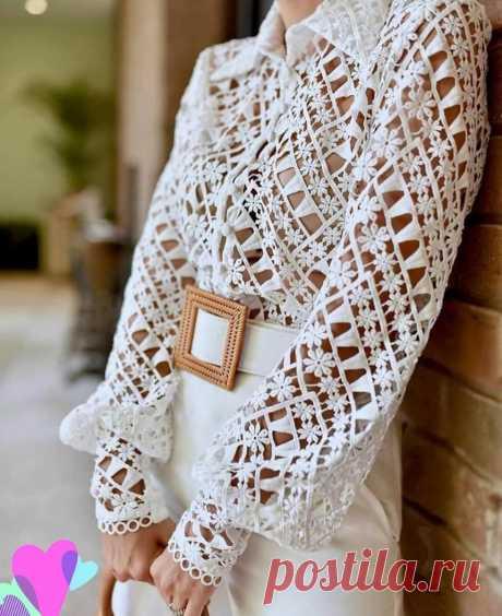 Кружевные блузки, кто-то шьёт, а кто-то вяжет.   Asha. Вязание и дизайн.🌶   Яндекс Дзен