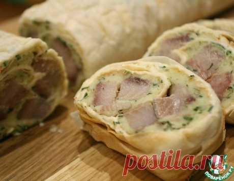 Закуска из лаваша, пюре и сельди – кулинарный рецепт