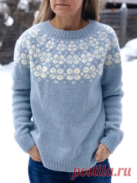 Вязаный пуловер LateBloomer   ДОМОСЕДКА