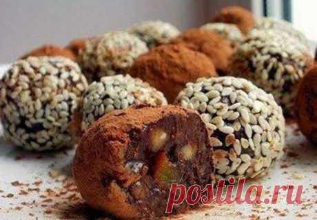 Кулинарные Рецепты: Домашние полезные конфетки
