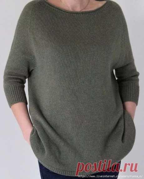 ВЯЗАНИЕ ХЭЙВОРДА  Если вы еще не связали себе стильную вещь для весны - самое время это сделать.  Особенность этого пуловера - заниженная линия проймы и широкий низ. Этот пуловер смотрится прекрасно на разных типах фигур.  Вам понадобится  Пряжа - 500 г Спицы - 3-4 мм Маркеры для отметки количества петель  Инструкция 1 Измеряем окружность шеи - эта мерка снимается по ключицам, так так вырез у хейворда должен быть довольно широкий. Снимаем мерку по ключицам впереди, прибавл...