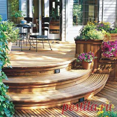 Крыльцо деревянного дачного дома своими руками: идеи и фото