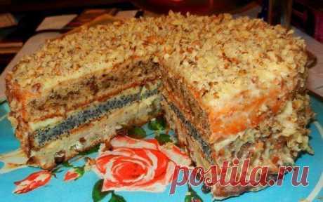 трехслойный домашний торт - Простые рецепты Овкусе.ру