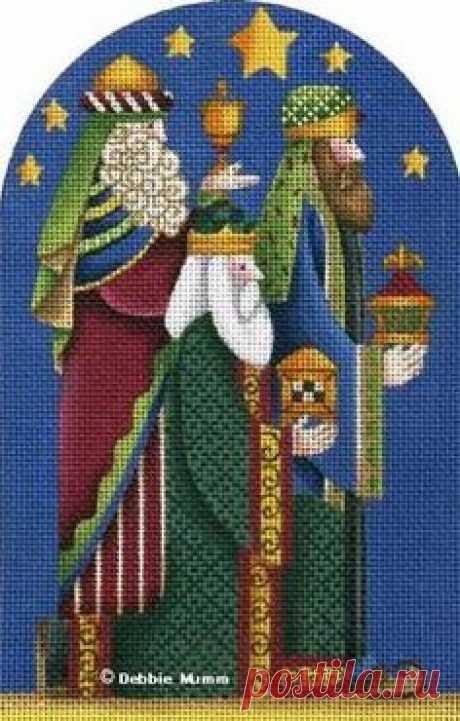 Рождественская вышивка. Схема