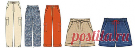 Direct trousers and shorts on one pattern - All patterns