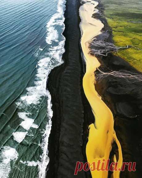 Редкие потрясающие аэрофотографии пейзажей оттаявшего исландского нагорья - Непутевые заметки - медиаплатформа МирТесен