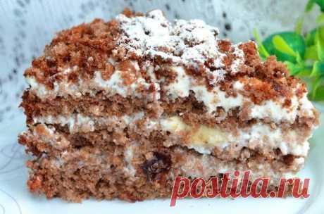 Очень вкусный тортик без названия из моей кулинарной книги!