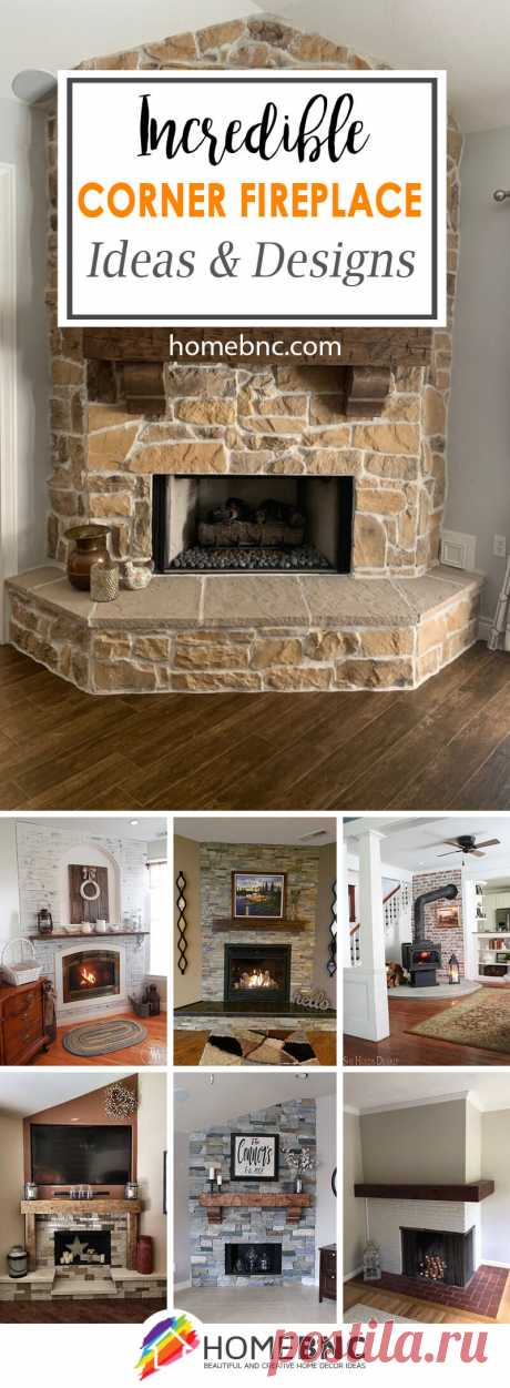 16 Best DIY Corner Fireplace Ideas for a Cozy Living Room in 2019
