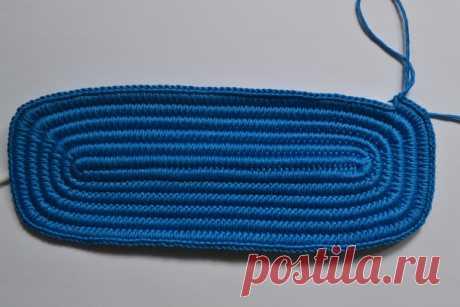 Вязание дна для сумки