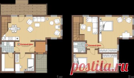Жилой дом 9х9, 2 этажа - каркасный дом под ключ - Готовый Дом, г. Екатеринбург: строительная фирма малоэтажных домов и коттеджей
