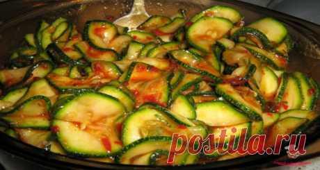 Маринованные кабачки быстрого приготовления - сайт кулинарии