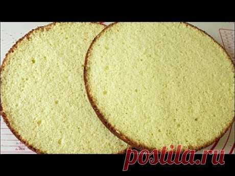 Бисквит на горячем молоке /Hot Milk Sponge Cake