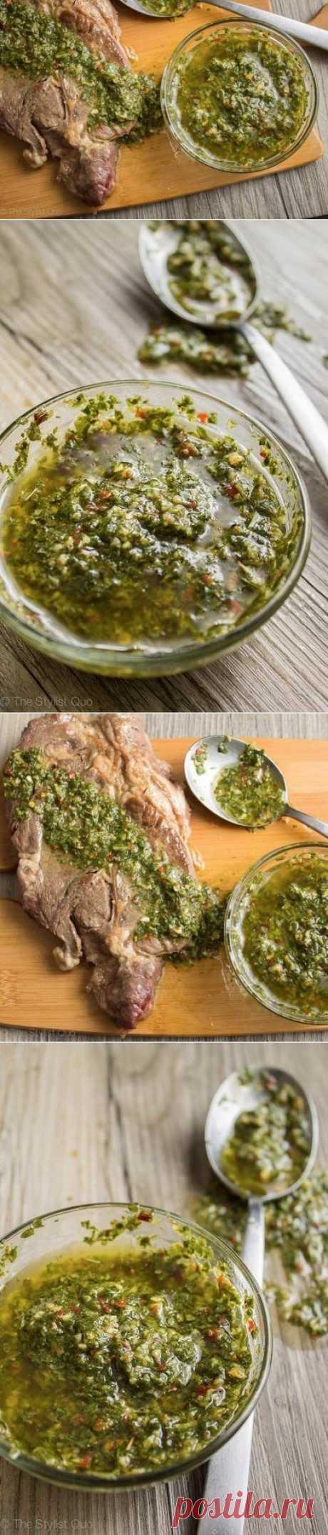 Как приготовить соус чимичурри (chimichurri sauce) - рецепт, ингридиенты и фотографии