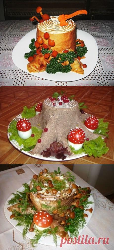 Салат «Пенек».