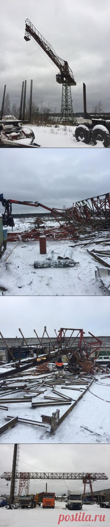 Демонтаж металлоконструкций, демонтажные работы любой сложности в Санкт-Петербурге.