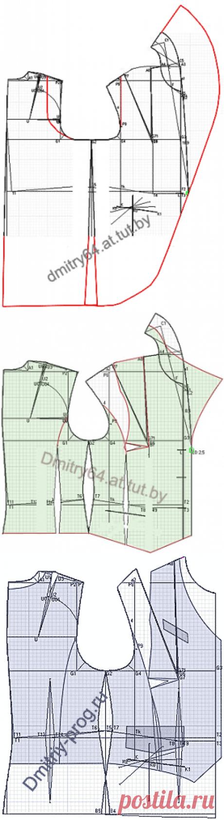 """Примеры моделей жилетов разработанных на основах рассчитанных в программе """"Закройщик"""""""