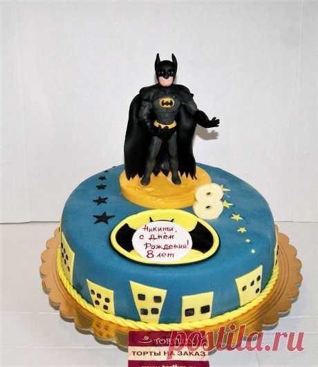 """Детский торт """"Бэтмен"""".Вес 5 кг."""