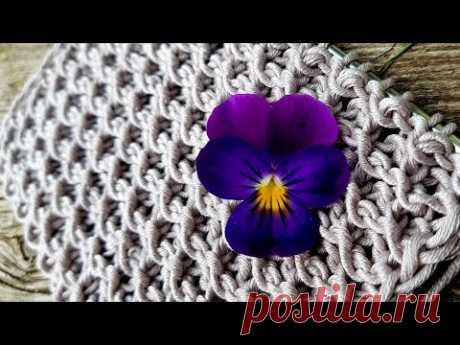 Knitting pattern ❤ Узор спицами 👌 strickmuster  tricot 🍑 how to knit   tricô 🤷  örgü deseni बुनना