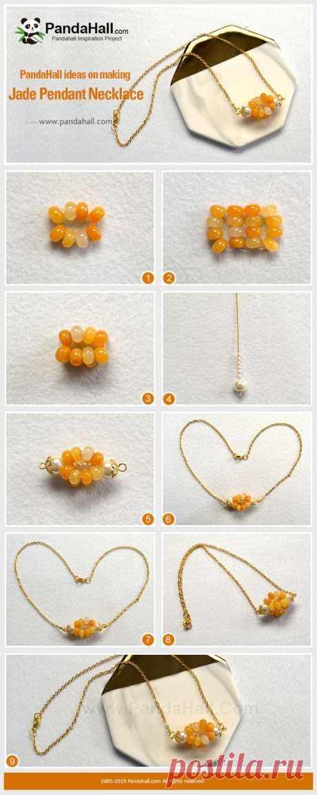 Нефрит Кулон Ожерелье Вам нравятся бусины из драгоценных камней? Если вам нравится, то этот учебник идеально подходит для вас. Мы используем драгоценные бусы и жемчуг, чтобы сделать это ожерелье подвески, которые показывают очарование в любое время. Давайте попробуем.